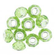 Berloque Crystal® - Verde Claro Transparente - Níquel