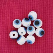 Bolinha - Olho Grego - Branco - 8mm