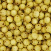 Contas de Madeira nº6 - Amarela