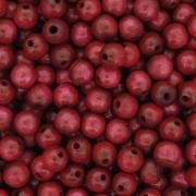 Contas de Madeira nº6 - Vermelha