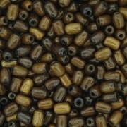 Contas de Madeira - 4x6mm - Imbuia