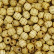 Contas de Madeira - 6x7mm Frisada - Marfim