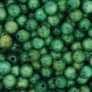Contas de Madeira - Oval 6x8mm - Verde