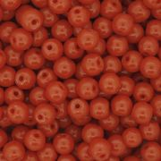 Contas de Porcelana® - Laranja - 6mm