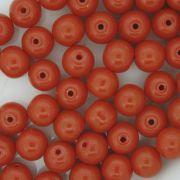 Contas de Porcelana® - Laranja - 8mm