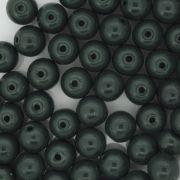Contas de Porcelana® - Verde Escura - 8mm