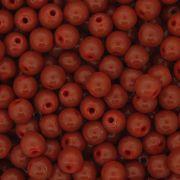 Contas de Porcelana® - Vermelha Escura - 6mm
