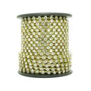 Corrente de Strass - Cristallo® - SS10 Dourado