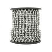 Corrente de Strass - Cristallo® - SS10 Níquel