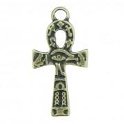 Cruz Ansata Olho de Horus - Ouro Velho - 33mm