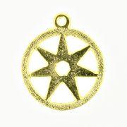 Estrela Sete Pontas - Dourada - 25mm