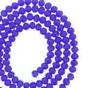 Fio de Cristal - Flat® - Azul Royal Transparente - 4mm