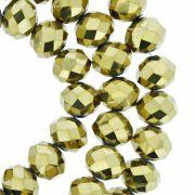 Fio de Cristal - Flat® - Dourado - 10mm
