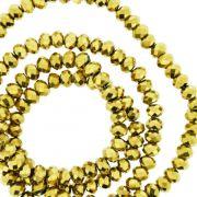 Fio de Cristal - Flat® - Dourado - 4mm