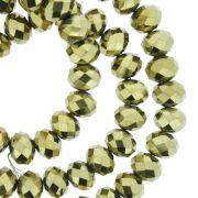 Fio de Cristal - Flat® - Dourado - 8mm