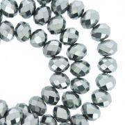 Fio de Cristal - Flat® - Prata Escuro - 8mm