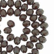 Fio de Cristal - Flat® - Marrom Escuro - 8mm