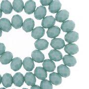 Fio de Cristal - Flat® - Verde Turquesa - 8mm