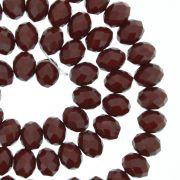 Fio de Cristal - Flat® - Vermelho Escuro - 8mm