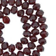 Fio de Cristal - Flat® - Vermelho Escuro Transparente - 8mm