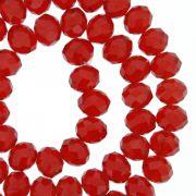 Fio de Cristal - Flat® - Vermelho Transparente - 8mm