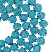 Fio de Cristal - Premium® - Azul Petróleo Transparente - 8mm