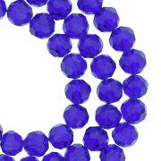 Fio de Cristal - Premium® - Azul Royal Transparente - 8mm