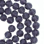 Fio de Cristal - Premium® - Roxo Transparente - 8mm