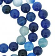 Fio de Pedra - Ágata Azul - 8mm