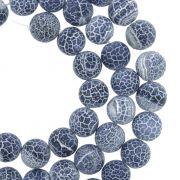 Fio de Pedra - Ágata Craquelada Azul - 8mm