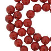 Fio de Pedra - Howlita Vermelha - 8mm