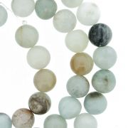 Fio de Pedra - Jaspe Aqua - 8mm