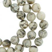 Fio de Pedra - Jaspe Vanilla - 8mm
