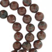 Fio de Pedra - Jaspe Vermelha - 8mm