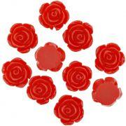 Flor de Resina - Vermelha - 16mm