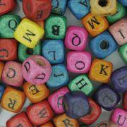 Letras de Madeira Cubo - Colorida - 8mm