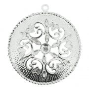 Mandala Floral - Níquel - 75mm