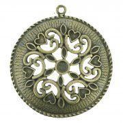 Mandala Floral - Ouro Velho - 75mm