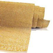 Manta de Strass - Dourada - 120x45cm