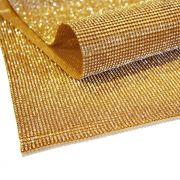 Manta de Strass - Dourada - 60x45cm