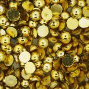 Meia Pérola - Dourada - 6mm