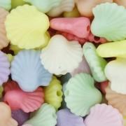 Miçanga Colorida Infantil - Conchas Candy