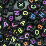 Miçanga - Letras Disco Preta Neon