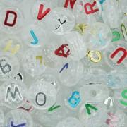 Miçanga - Letras Disco Transparente com Glitter