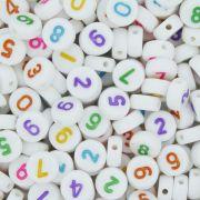 Miçanga - Números Disco Branco Colorido