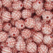 Miçanga Pesca - Abacaxi Branca e Vermelha