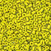 Miçanga - Rajada Amarela e Preta - 6/0 [4x3mm]