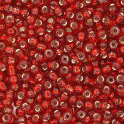 Miçanga - Vemelha Transparente - 6/0 [4x3mm]