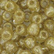 Miçangão Plástico - Tererê® - Glitter Dourado