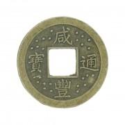 Pingente Moeda Oriental - Ouro Velho - 24mm